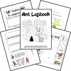 This free ant lapbook is a great way to teach your kids all about ants!