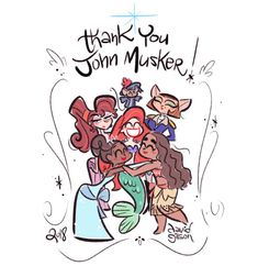 Petit hommage tout simple à John Musker qui a pris sa retraite de Disney Animation. Good luck for the future John and thank you for all these wonderful films! By Davidgilson