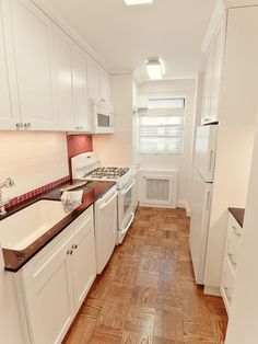 1000 images about galley kitchens on pinterest galley for Apartment galley kitchen ideas