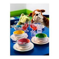IKEA - DUKTIG, Plate/bowl,  ,  , , Mini dinner plates for play. Made of tough stoneware.Encourages role play which helps children to develop social skills by imitating grown-ups and inventing their own roles.