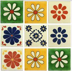 Daisies Mexican Talavera Tile Collection – Mexican Tile Designs