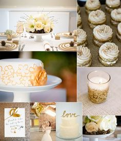 white and gold wedding ideas