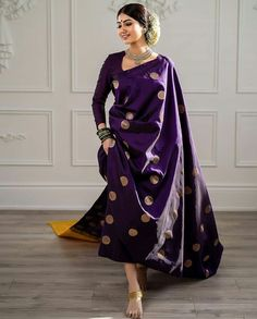 Trendy Ideas For Bridal Saree Kanchipuram Blouse Dress Indian Style, Indian Dresses, Indian Outfits, Saris Indios, Sari Dress, Sari Blouse, Saree Trends, Stylish Sarees, Belle