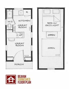 The Beavan - The Four Lights House Company - Again another floor plan to work on for ideas...  -  To connect with us, and our community of people from Australia and around the world, learning how to live large in small places, visit us at www.Facebook.com/TinyHousesAustralia