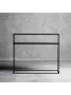 Konsolbord metal med hylde - sort, tine k home 3395kr