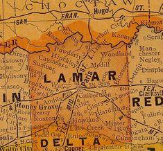 map of paris, tx Paris Texas, Texas County Map, Paris Home, Paris Map, County Seat, Texas History, Historical Sites, Lamar Colorado, Genealogy