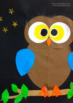 Gruffalo Inspired Owl Craft for Kids - also use with Heule Eule