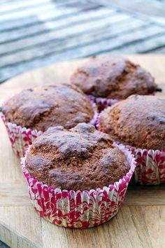 suikervrije bananabread muffin van Uit Paulines Keuken