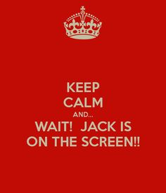 Jack Thorton the handsome Mountie is on the screen. Everyone stay silent. Do not breathe until he is done talking.