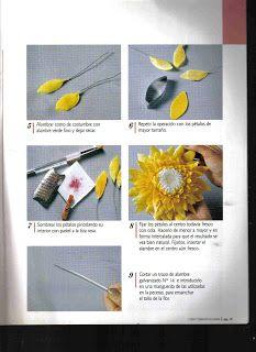 Todo Flores de Porcelana Fria: Flores Porcelana fria: Girasoles paso a paso