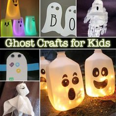 Ghost crafts for kids at ProjectsforPreschoolers.com