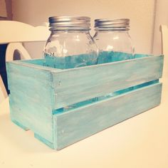 I would love to find some orange crates to spray paint and put on some of the tables with the mason jars!