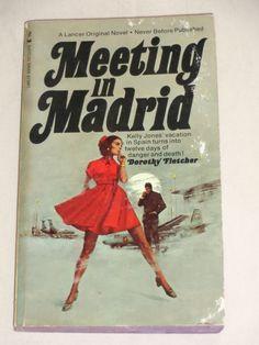 Vintage Paperback Meeting in Madrid by by TreasureTroveBooks, $3.95