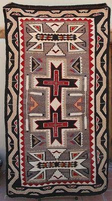 """Navajo Teec Nos Pos rug  circa 1930  90.5 """" x 51 """""""