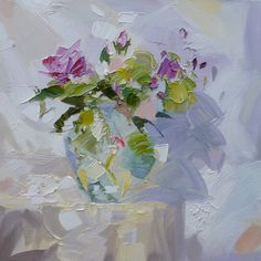 ORIGINAL STILL LIFE OIL PAINTING BY ONE OF BRITAIN'S BEST OIL PAINTERS, PAUL TREASURE. Wild Roses 50x50. Paul Treasure was born in 1961 in Cheltenham and studied at Cheltenham College of Art. He moved to London in 1985 where he worked as a professional artist, painting to commission for clients worldwide. Buy it: http://www.artpal.com/collectableart?i=13694-13
