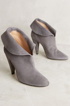 Hoss Intropia Suede Ankle Boots. I love these except for in brown #anthropologie
