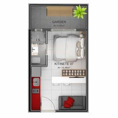 Small Apartment Layout, Studio Apartment Layout, Small Apartment Interior, Apartment Design, Small Apartment Plans, Layouts Casa, House Layouts, Small House Plans, House Floor Plans