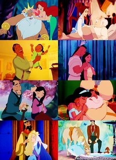 Princesses and their fathers! So cute!