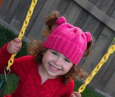 05afb9df32c Angie Fitzpatrick - Kira sporting her new piggie-tail hat in her favorite  color -