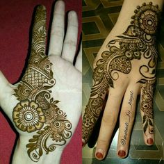 Best Floral Mehndi Designs with Step by Step Video Tutorial Mehndi Designs 2018, Modern Mehndi Designs, Bridal Henna Designs, Beautiful Henna Designs, Simple Mehndi Designs, Mehndi Designs For Hands, Bridal Mehndi, Finger Henna, Hand Henna