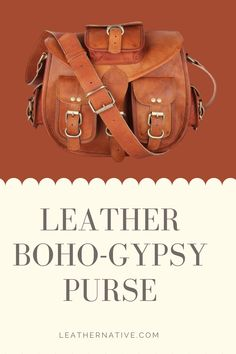 Women's Handmade Leather Boho-Gypsy Purse designed with high-end goat leather material and featuring a fashionable and durable frame, our vantage over the shoulder purse will become your essential companion in your day-to-day life. The quality of our satchel purse improves with time as the leather softens and its color deepens. This Handmade Leather Boho-Gypsy Purse is perfect for the office, school, or as a gift. #bohogyosypurse #brownleatherpurse Small Leather Bag, Brown Leather Purses, Leather Bag Tutorial, How To Make Leather, Laptop Tote Bag, Leather Bags Handmade, Boho Gypsy, Leather Material, Goat