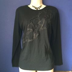 Ralph Lauren Sequin Horse Rein Pullover Long sleeves, crew neck, rein design with embroidery and sequins, pullover style. 100% cotton. No trades. Generous discount with bundle. Ralph Lauren Tops