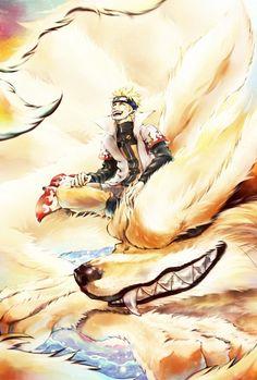 Kurama & Naruto #naruto #uzumaki#kurama