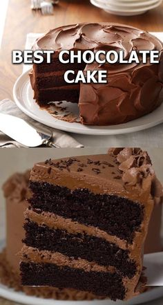 #Recipe #Best #Chocolate #Cake Easy Moist Chocolate Cake, Chocolate Cake Recipe Videos, Chocolate Cake From Scratch, Amazing Chocolate Cake Recipe, Best Chocolate Cake, Chocolate Recipes, Espresso Chocolate Cake, Chocolate Mouse Cake Filling, Chocolate Cake With Ganache