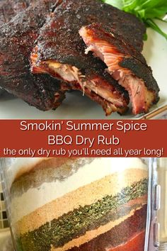 Smokin' Summer Spice Dry Rub, the most versatile Barbecue dry rub ever! – Famous Last Words Smoker Recipes, Meat Recipes, Cooking Recipes, Barbecue Recipes, Grilling Recipes, Homemade Spices, Homemade Seasonings, Bbq Dry Rub, Dry Rubs