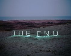 """""""The End"""" by Lee Jung #neon #typography"""