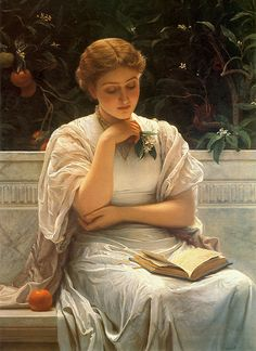 Charles Edward Perugini 'Girl Reading' or 'A Fair Student' 1878 | Flickr - Photo Sharing!