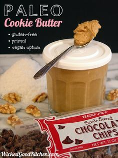 Paleo Cookie Butter gluten free, primal & vegan Go on, It is Paleo! Paleo Dessert, Healthy Sweets, Gluten Free Desserts, Vegan Desserts, Autoimmun Paleo, How To Eat Paleo, Paleo Life, Primal Recipes, Whole Food Recipes