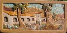 """""""Rancho"""".  relief tile. From a  1920s CLAYCRAFT design."""