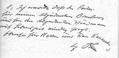 Hitler's handwriting