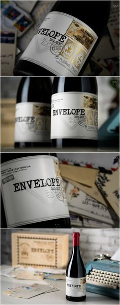 Packaging Label Design for Portuguese Wine that Delivers Emotions and Aromas Design Agency: M&A Creative Agency Brand / Project Name: Ribeiro Santo Envelope Location: Portugal Category: #Wine #Drinks World Brand & Packaging Design Society