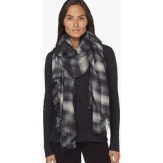 James Perse Faliero Sarti Plaid Scarf (31.520 RUB) ❤ liked on Polyvore featuring accessories, scarves, tartan shawl, tartan plaid shawl, lightweight scarves, plaid scarves and tartan scarves