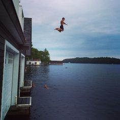 The boathouse jump Boathouse, Ontario, Places, Summer, Landscape Rake, Summer Time, Boat Dock, Lugares