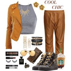 Cool Chic by zjay4life on Polyvore featuring polyvore fashion style Giuseppe Zanotti Clare V. Alexis Bittar Chanel Samantha Wills Forever 21 Linda Farrow NARS Cosmetics Deborah Lippmann Nails Inc. H&M