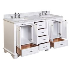 "Kitchen Bath Collection Nantucket 60"" Double Bathroom Vanity Set"