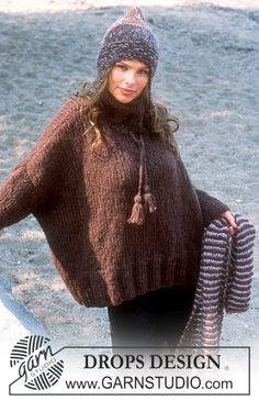 Generous and large #knit sweater. With hat and gloves in addition the cold will not get to you! #garnstudio