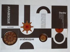 Denby. Arabesque. 1962-62. Even the brochure's were designed by Gill Pemberton. No detail left to chance!