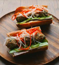 Banh mi with flash-pickled jalapeno, radish, and daikon