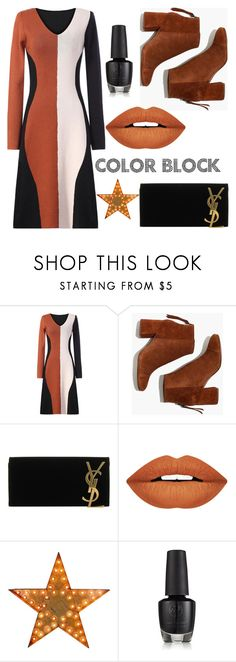 """""""Happy monday~"""" by metisu-fashion ❤ liked on Polyvore featuring Madewell, Yves Saint Laurent and Forever 21"""