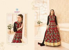 Look eccentric in this red embroidered designer floor length anarkali suit To order pls call/whatsapp +919600639563 for booking #ethnicwear #salwarkameez #elegance #apparels #sarees #lehengas #fashion #partywear #womensfashion #womenswear #designerwear #trendy #indianfashion #indianculture