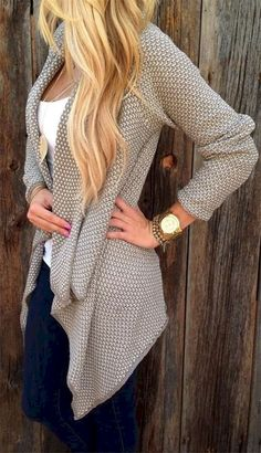 Cool 82 Fall Outfits with Cardigans for Women https://bitecloth.com/2017/09/04/82-fall-outfits-cardigans-women/