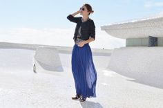 She´s always great, #MyDailyStyle blue long skirt