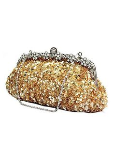 In Stock Luxury Gold Paillette With Austrian Rhinestones Evening Handbags    Clutches fe4599a3d268