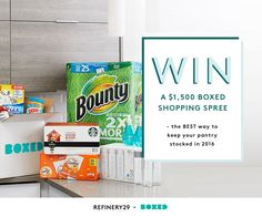 Enter to #Win a $1,500 Boxed Shopping Spree..  http://r29.co/2035ubk?utm_campaign=naytev&utm_content=56a48636e4b0345c40fcba4c