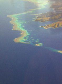 Flying over the Rainbow Reef and Vanua Levu, #Fiji The Remote Resort, Fiji Islands