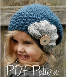 Knitting PATTERNThe Ruby Slouchy Toddler Child door Thevelvetacorn, $5.50